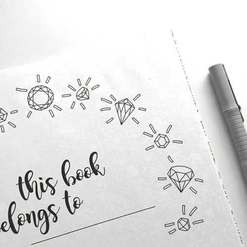 all things shiny coloring book - personalization