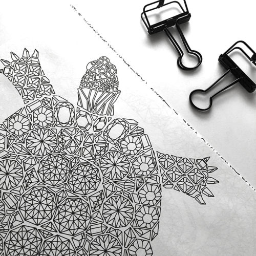 all things shiny coloring book - diamonds turtle