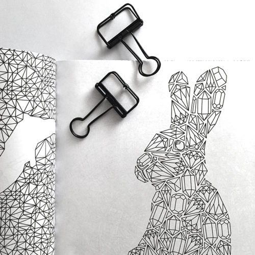 all things shiny coloring book - rabbit camel