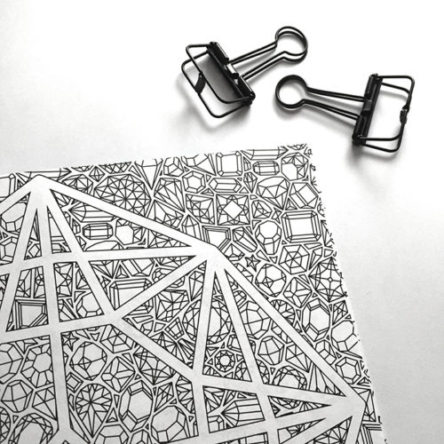 all things shiny coloring book - pattern detail