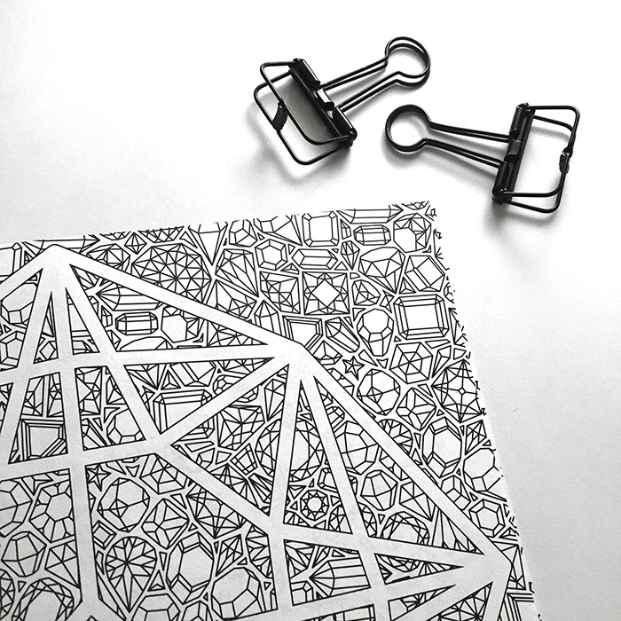 all things shiny coloring book pattern detail