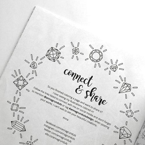 all things shiny coloring book - social media