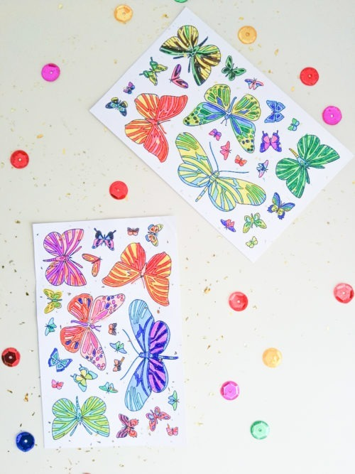 butterfly coloring stickers adult coloring stickers to color in adult colouring pages butterfly coloring stickers butterfly coloring page butterfly stickers illustration handmade stickers butterflies decals