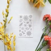 flowers coloring stickers packaging
