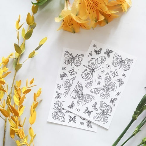 butterflies coloring stickers beautiful