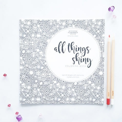 all things shiny coloring book for adults Anna Grunduls