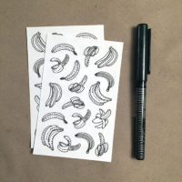 bananas coloring stickers - scale