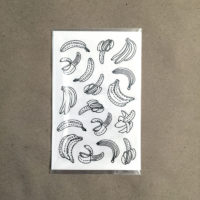 bananas coloring stickers - packaging
