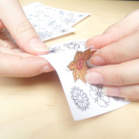 flowers coloring stickers - self adhesive