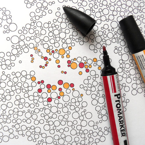 world map coloring poster bubbles