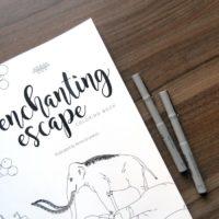 coloring book enchanting escape cover close up