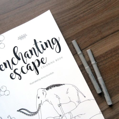 coloring book enchanting escape cover close up