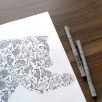 coloring book enchanting escape bear