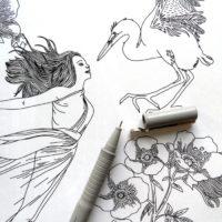 coloring book enchanting escape fairy