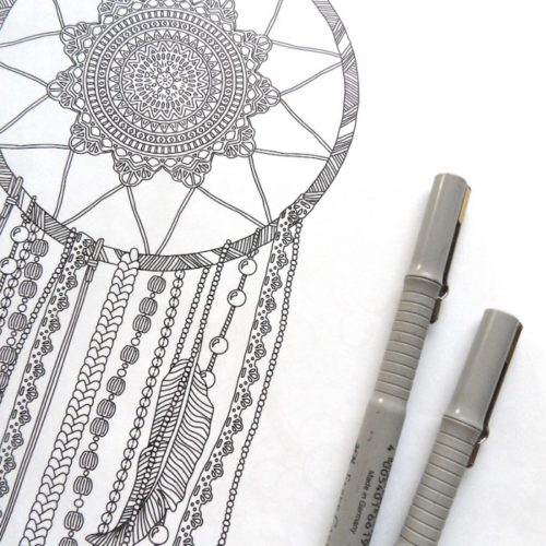 coloring book enchanting escape dreamcatcher
