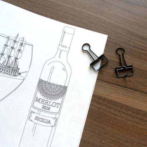 coloring book enchanting escape wine