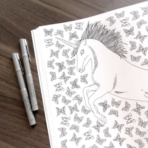 coloring book enchanting escape unicorn