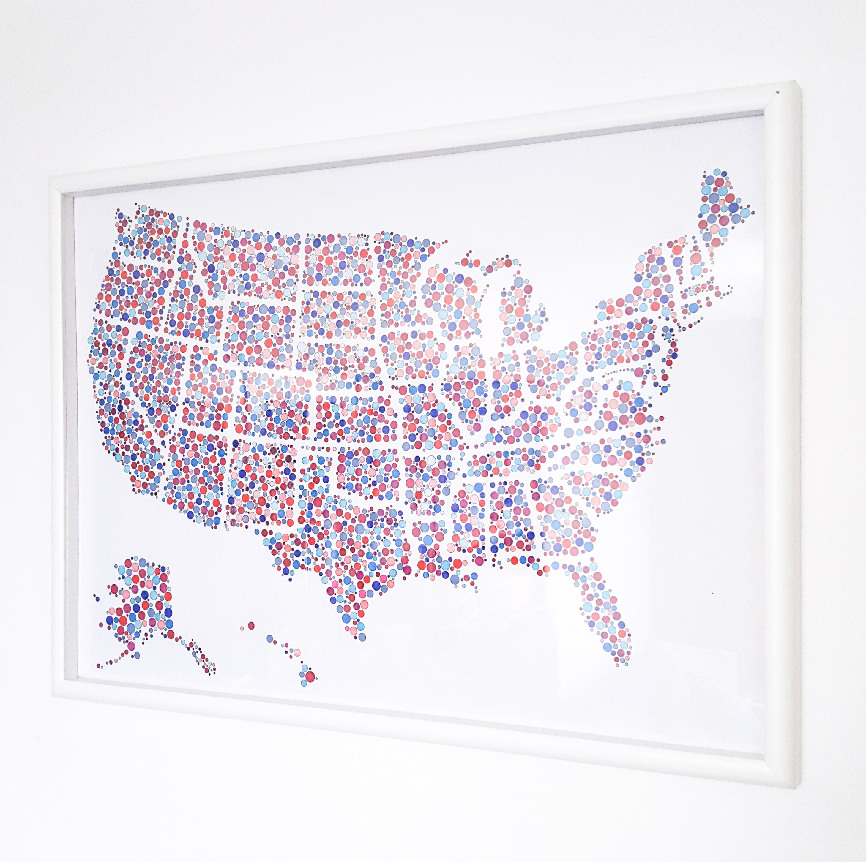 Bubbles United States Coloring Map