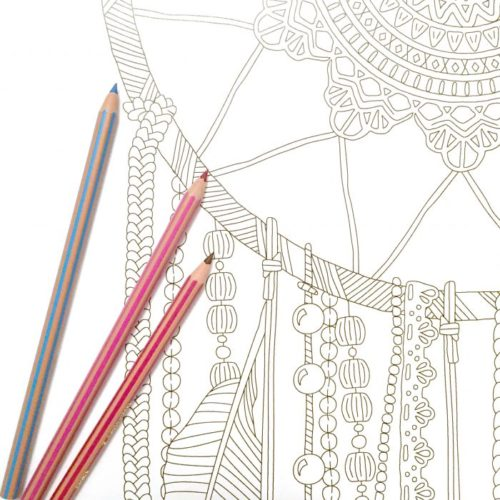 dreamcatcher coloring poster close up
