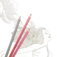 fairy coloring poster