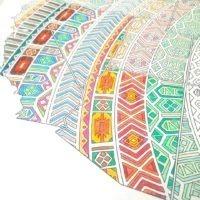 mandala coloring map detail