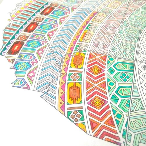 mandala coloring map detail