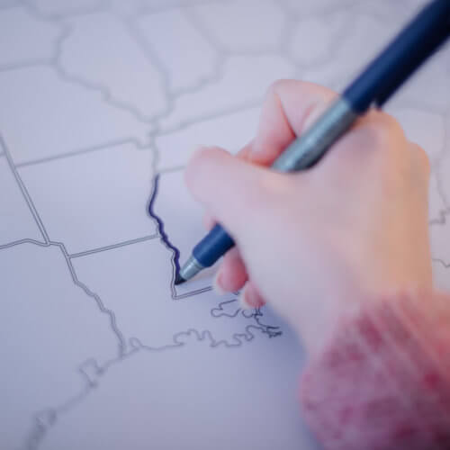 large coloring poster with plain outlines usa map