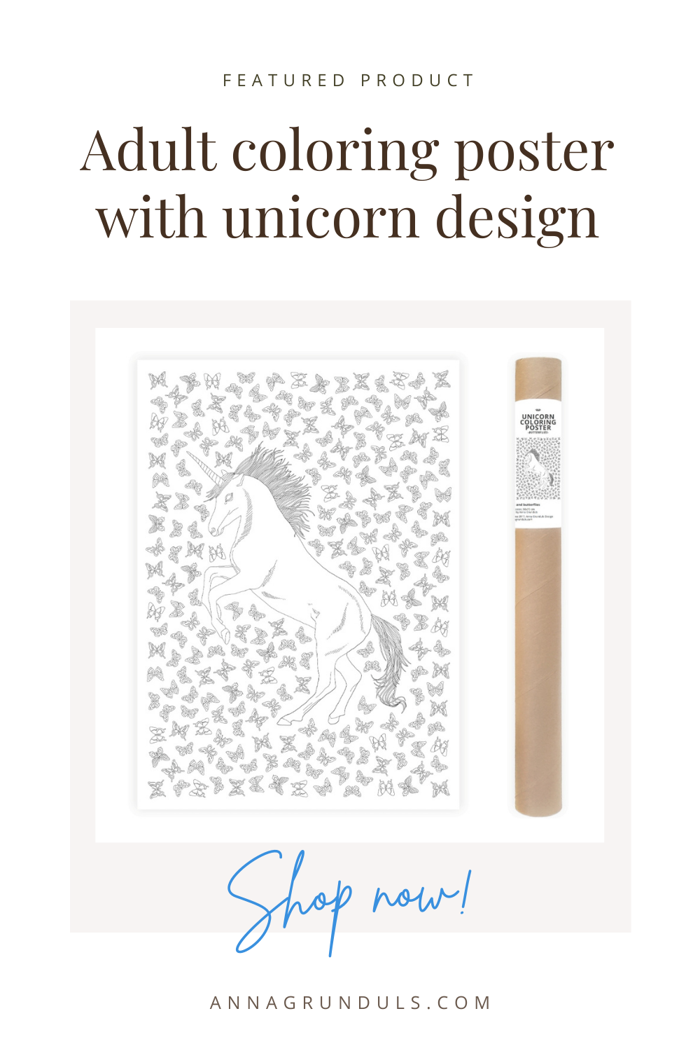 unicorn poster for adult coloring pinterest pin