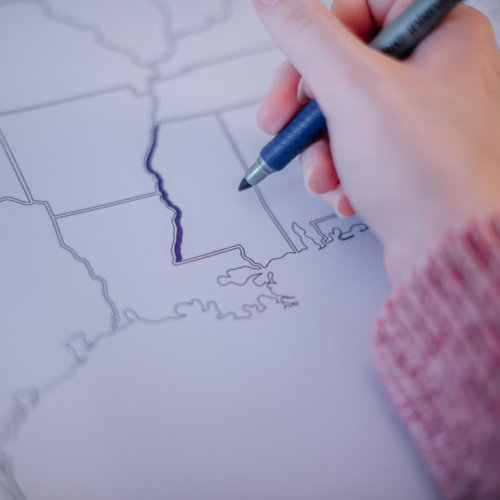 usa outlines travel map for coloring