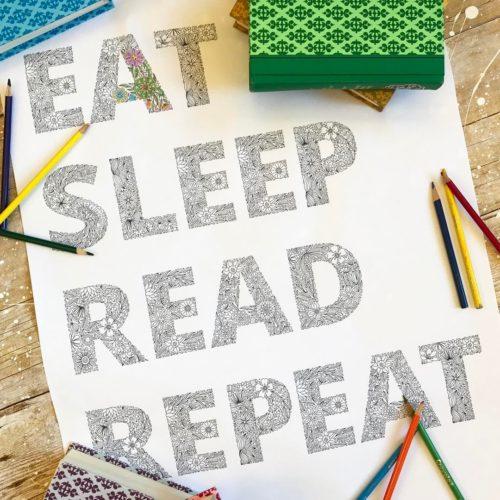 eat sleep read repeat detail
