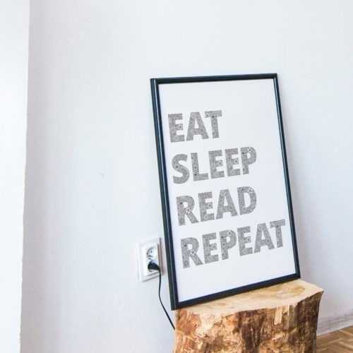 Readers Gifts Read Sleep Read Repeat Quote Funny Coloring Poster Adult Coloring Page
