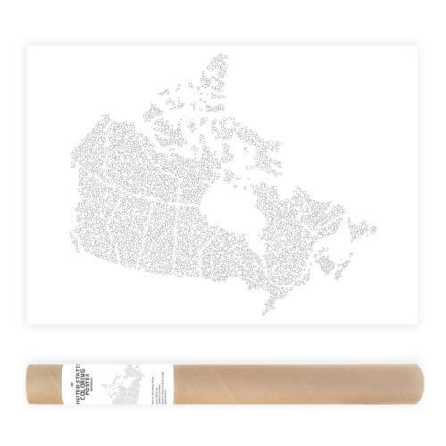 Canada Bubbles Travel Map Adult Coloring Poster AnnaGrunduls501