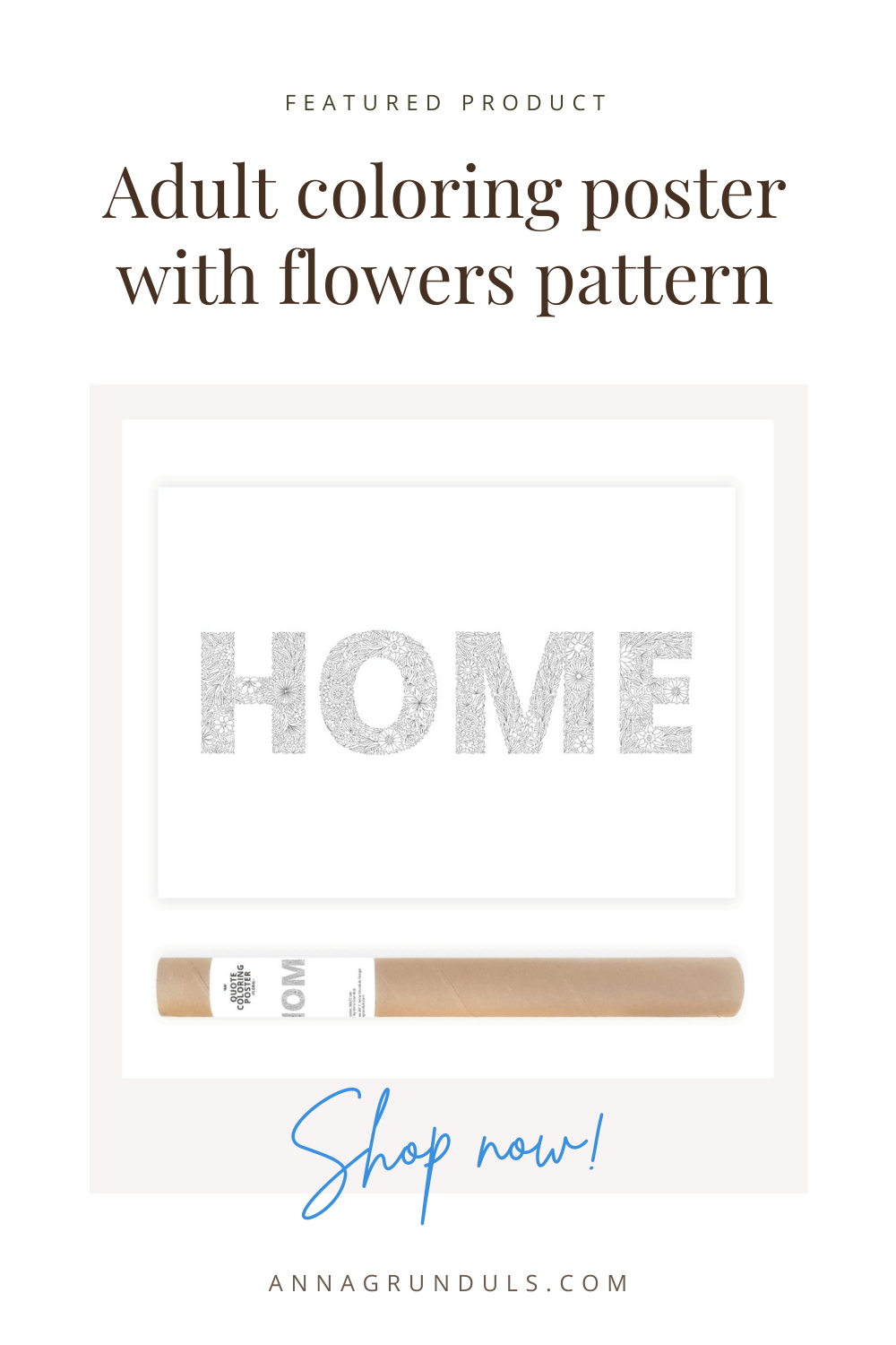 home poster for adult coloring pinterest pin