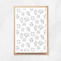 sining gems pattern coloring postcard