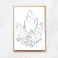 crystals constellation coloring postcard