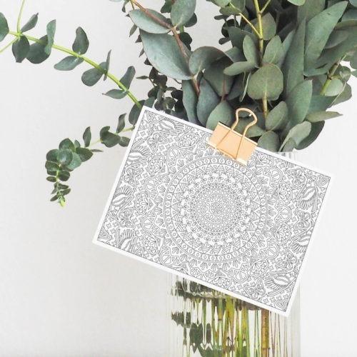 butterflies patterns mandala coloring postcard greeting card diy paper craft