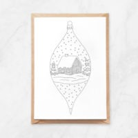 vertical ornament coloring postcard