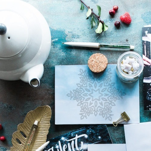 snowflake coloring postcard adult coloring postcard snowflake snow