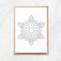 snowflake coloring postcard
