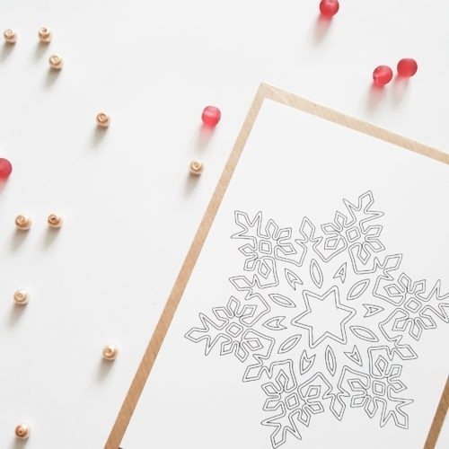snowflake coloring postcard adult coloring postcard snowflake snow