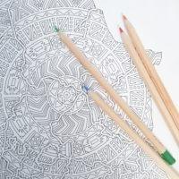 mandala coloring world map detail