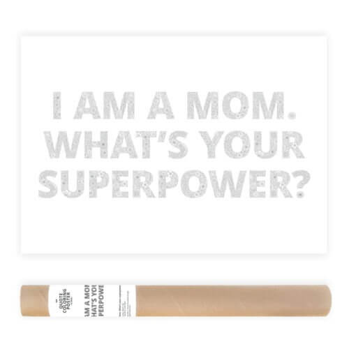 I Am A Mom Whats Your Superpower Adult Coloring Poster Floral Pattern