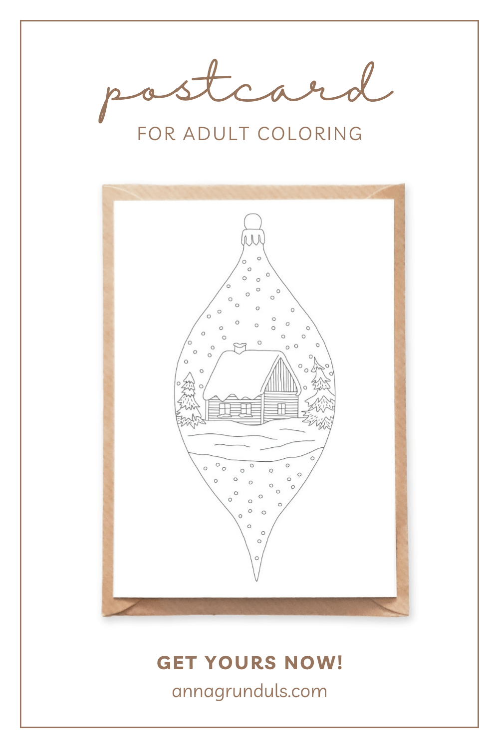 vertical ornament postcard for adult coloring pinterest pin
