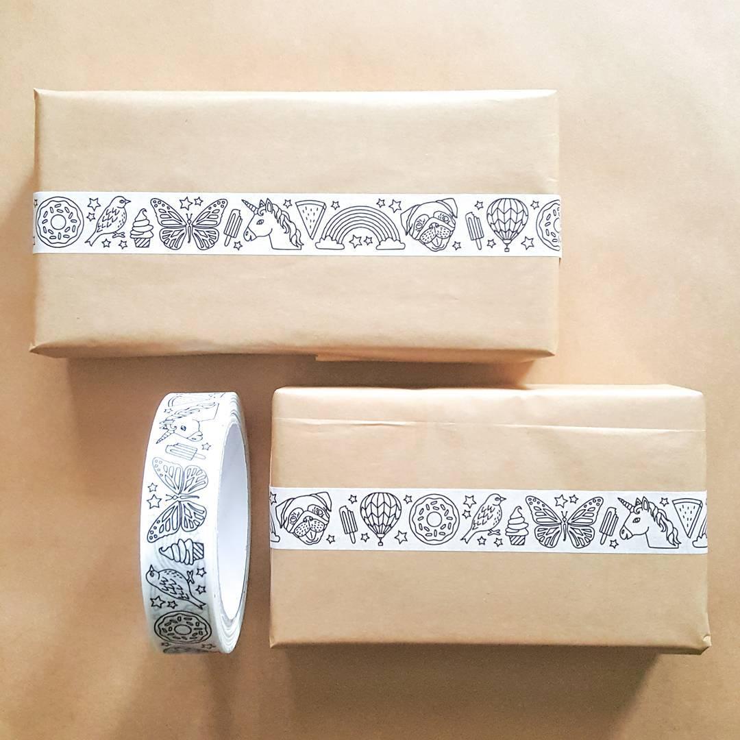 unicorn washi tape cute washi kawaii tape adhesive tape washi