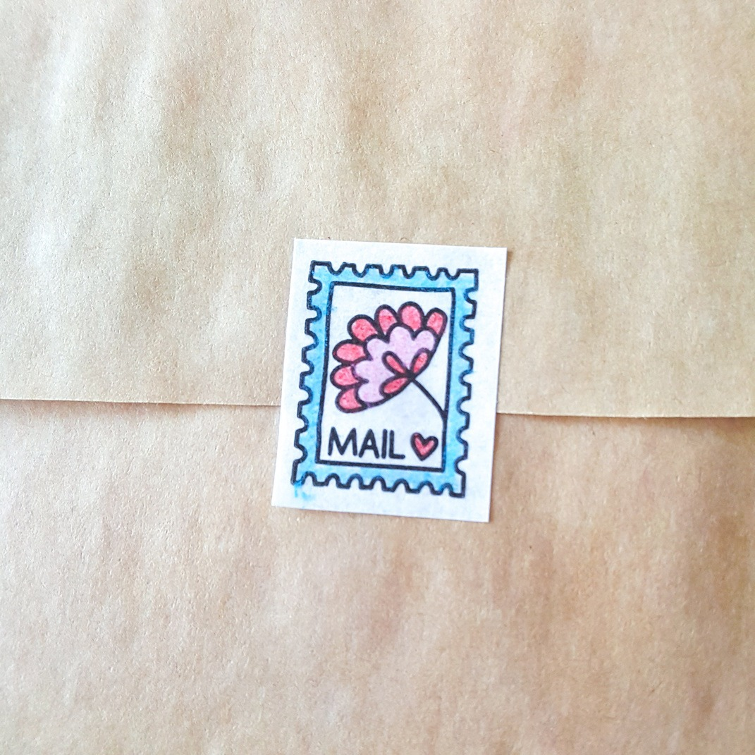 postage coloring tape for diy paper crafts