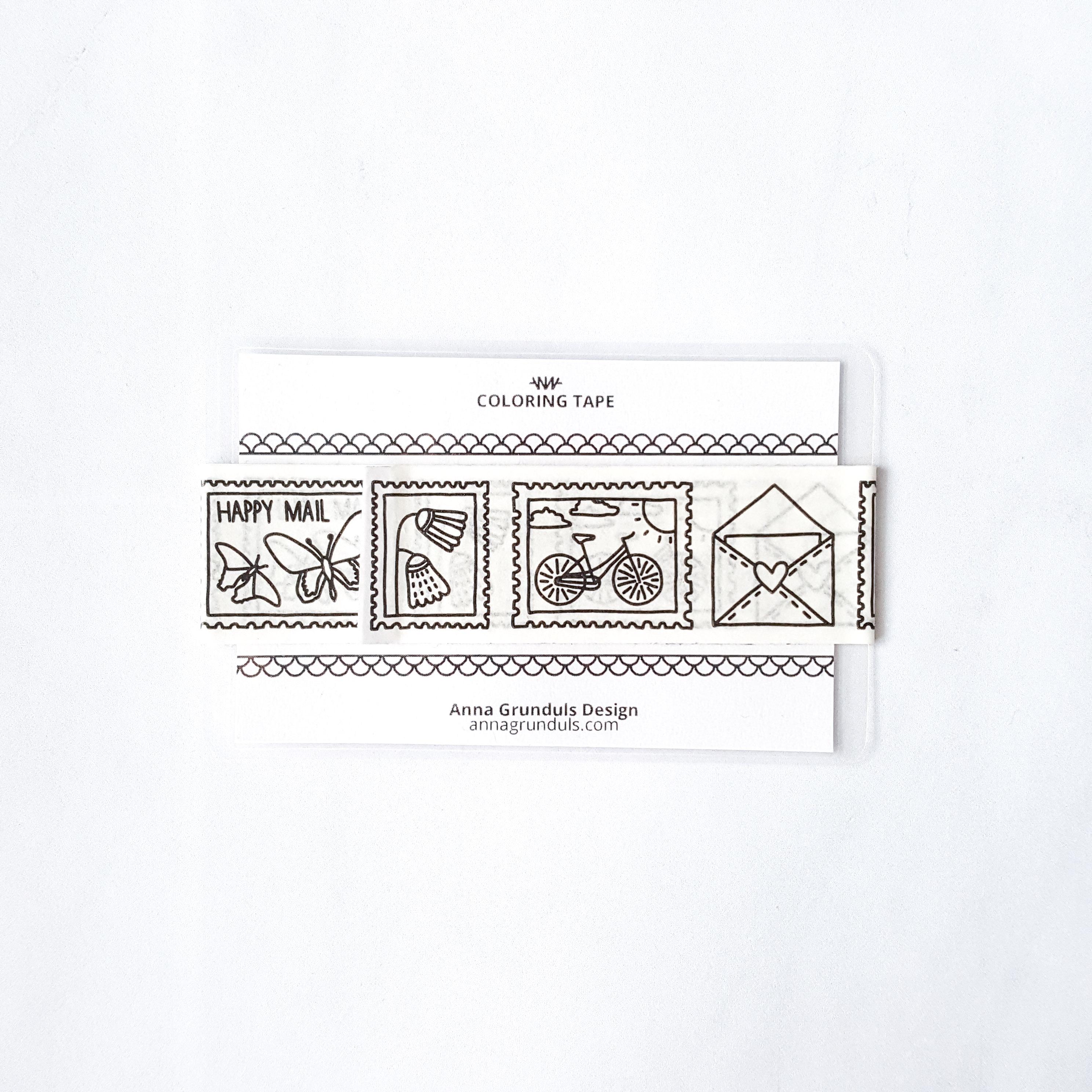 happy mail washi tape adult coloring stamps washi sampler