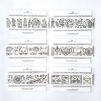 washi tape sampler cards adult coloring adhesive tape