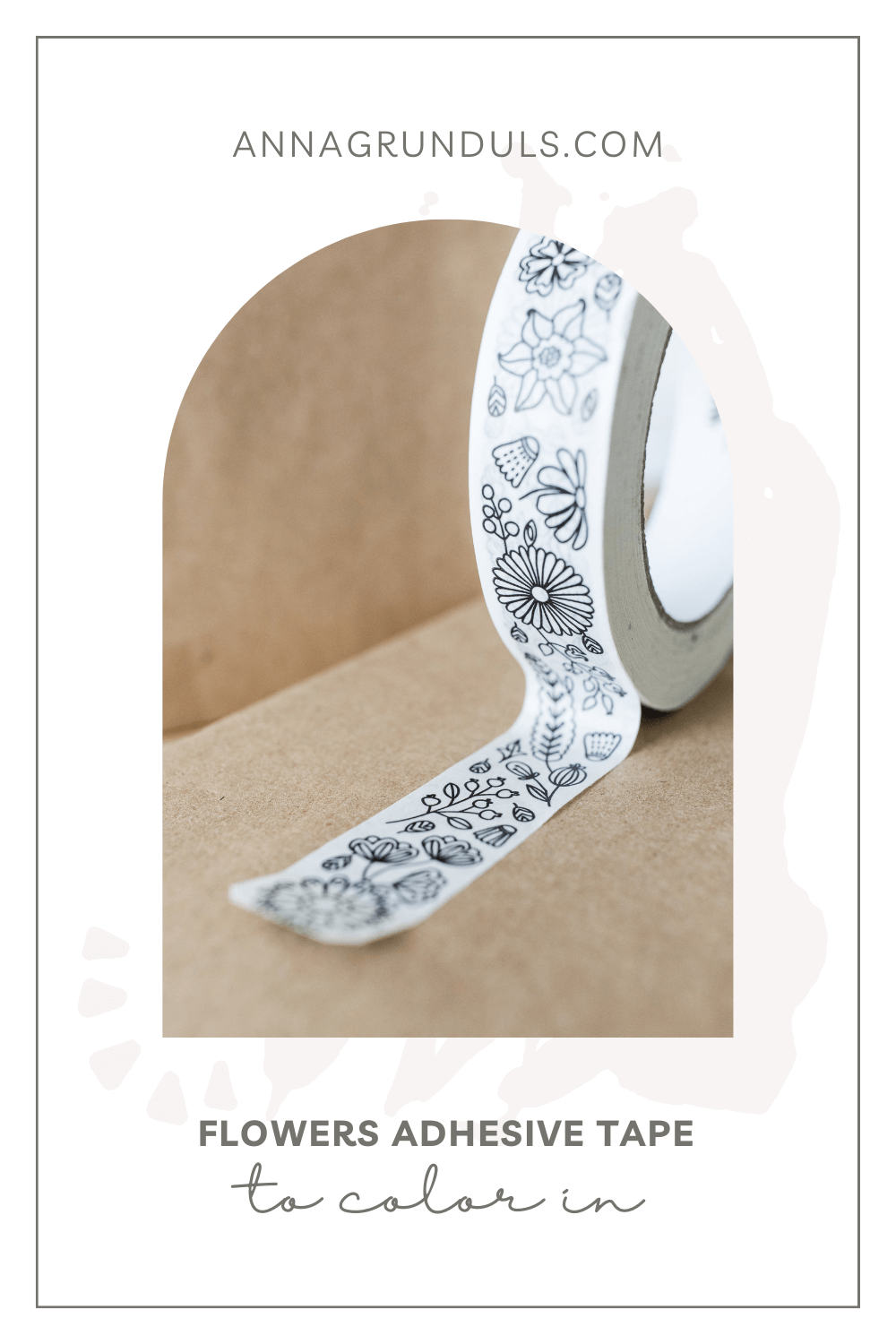 flowers adhesive tape for adult coloring pinterest pin