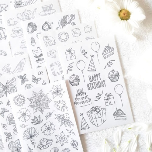 mega stickers pack 10 sticker designs planner party favors decal gift set adult coloring coloring planner planner stickers back to school school supplies mandala stickers girly stickers paper crafts scrapbooking sticker