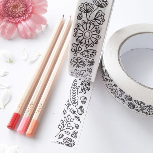 adult coloring washi tapes to color in adhesive tapes adult coloring book packaging gift wrapping supplies
